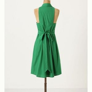 Anthropologie Maeve Green Fountain Of Youth Dress